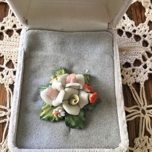Capodimonte Floral Brooch